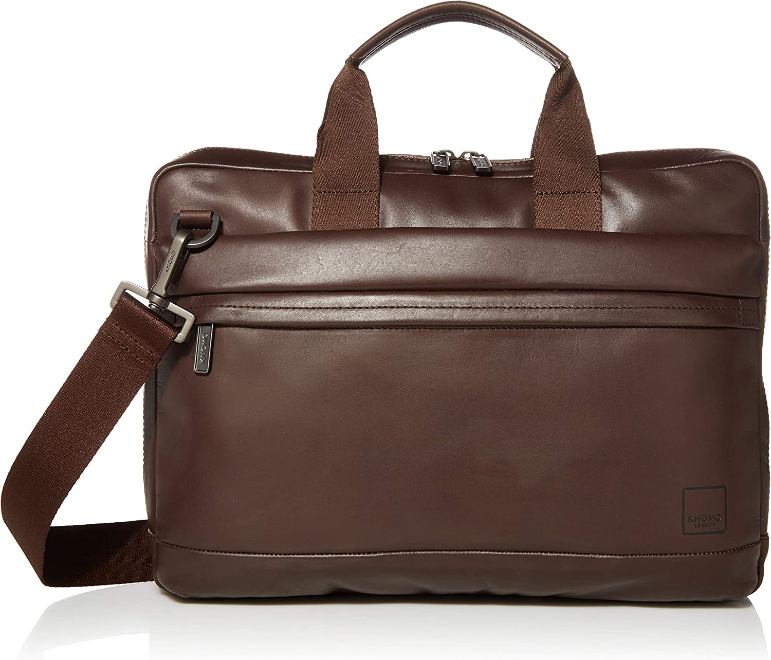 Knomo Luggage Men s Foster Briefcase, Brown, One Size