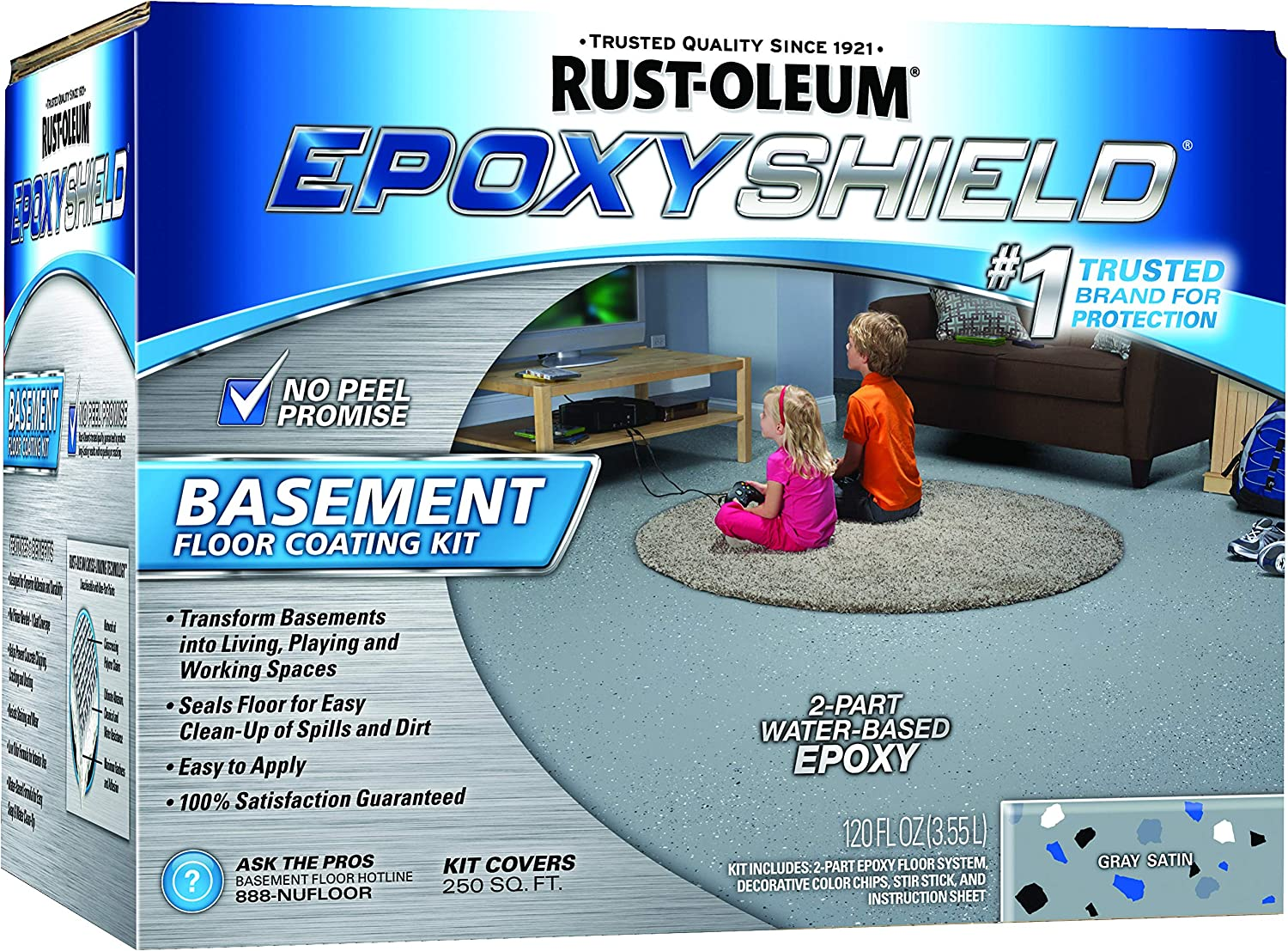 Rust-Oleum Epoxy Basement Floor Kit