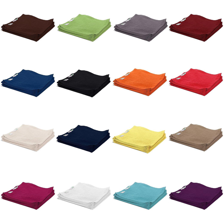 AR Line 10er Pack Waschhandschuhen/Waschlappen 15x21 cm 100% Baumwolle 500 g/m², in Farbe: Anthrazit-Grau