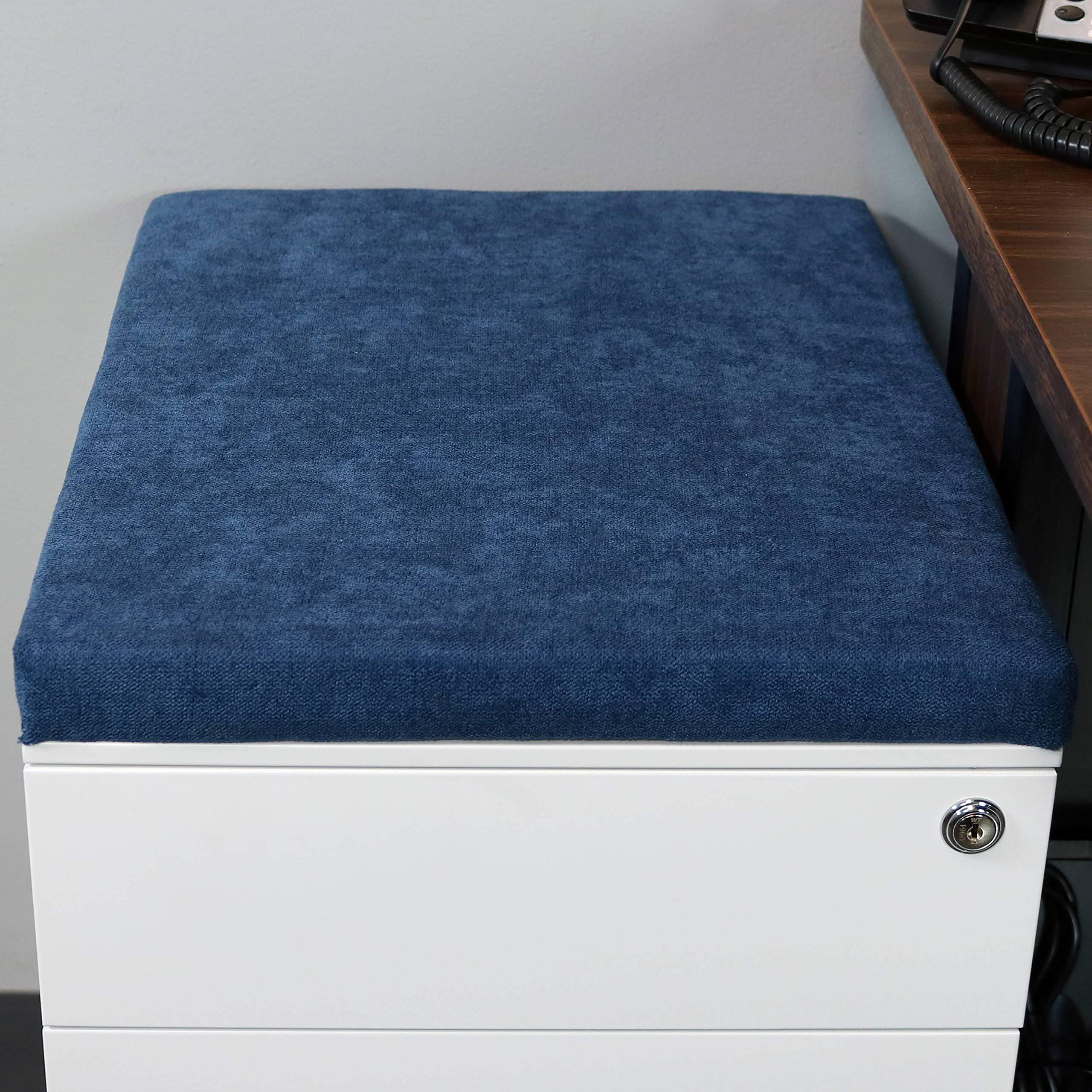 CASL Brands File Cabinet Cushion Seat Top for Mobile Pedestals, Magnetic Back, Blue by CASL Brands (Image #2)