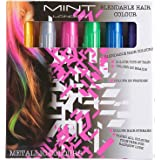 Hair Chalk - Metallic Glitter Temporary Hair Color - Edge Chalkers - No Mess - Built in Sealant - Works on All Hair Colors - Color Essentials Set (6 Count) By SySrion