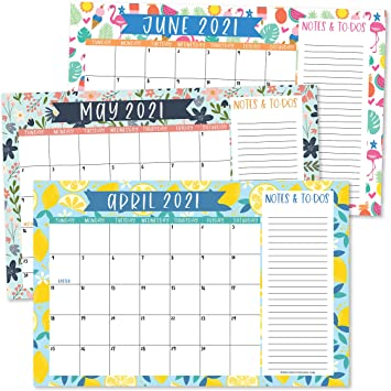 Amazon Com 2021 2022 Doodle Desk Calendar Large Monthly Wall Planner With Seasons 18 Month Academic Desktop Calendar Fridge Planning Blotter Pad Seasonal Notes Section Teacher Family Business Office 11x17 Office Products
