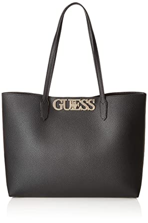 7622f25f Amazon.com: GUESS Uptown Chic Barcelona Tote, Black: Clothing