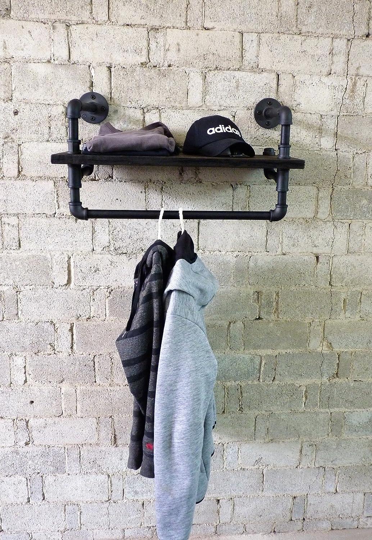家具パイプラインIndustrial、27インチマウントパイプ棚衣類ラック多目的、メタルwith Reclaimed Wood Finish B074JN2Y9V