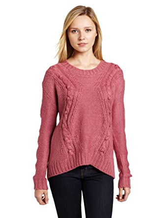 Kensie Girl Juniors Cable Knit Sweater Dusty Pink Small At Amazon