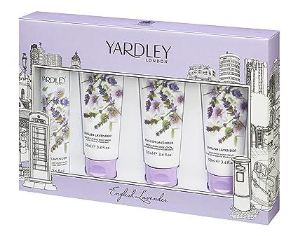 Yardley Londres Gift Set contiene Inglés Lavender Body Spray 75 ml/Body Wash/loción