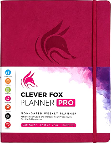 Clever Fox Planner Pro Weekly Monthly Life Planner To Increase