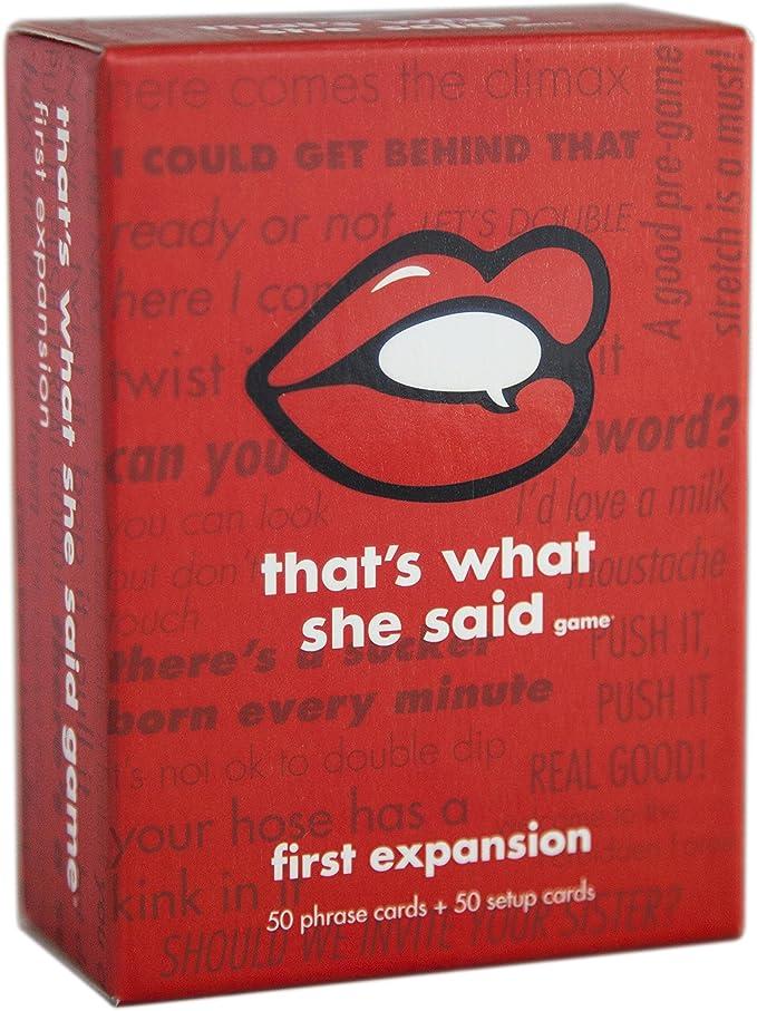 Thats What She Said La Primera expansión Rojo y Blanco: Amazon.es: Juguetes y juegos