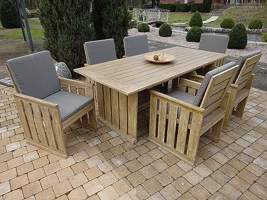Juego de 19 muebles de jardín de lujo de SG, de Siena Garden, en imitación de madera de construcción: Amazon.es: Hogar