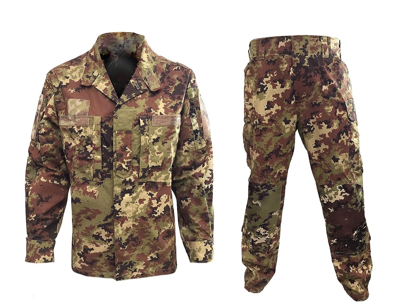 ALGI Completo Uniforme Mimetico da Combattimento Antistrappo Vegetato (Mod. Soldato Futuro) OUTLET MILITARY