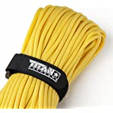 "TITAN WarriorCord | 103 FEET, 620 LB. TENSILE STRENGTH | Exceeds MIL-SPEC, Type III 550 Paracord Standards. 7 Strand, 5/32"" Diameter, 100% Nylon Military Parachute Cord, with Paracord eBooks."