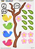 Graphics and More 'Birds on a Branch' MAG-NEATO'S Novelty Gift Locker Refrigerator Vinyl Magnet Set