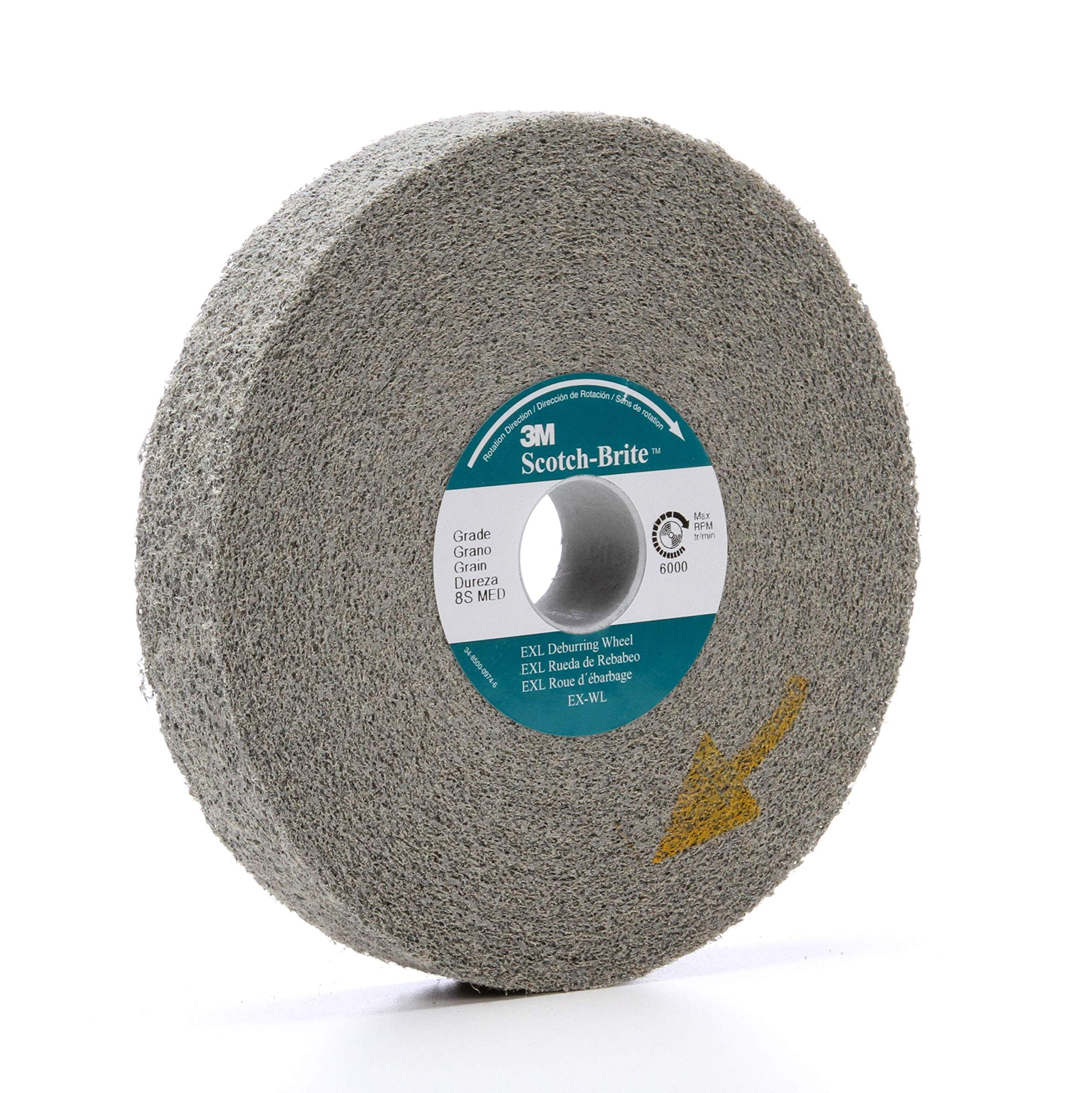3/PK 3M Scotch-Brite 18278 EXL Deburring Wheel 6 in X 1 in X 1 in 8S MED // 7000028482 by APD-Incorporated