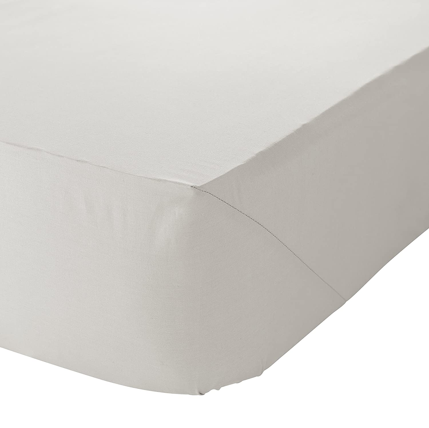 Catherine Lansfield Brushed Cotton Double Fitted Sheet White Turner Bianca BD-39950-W-DFD-WH