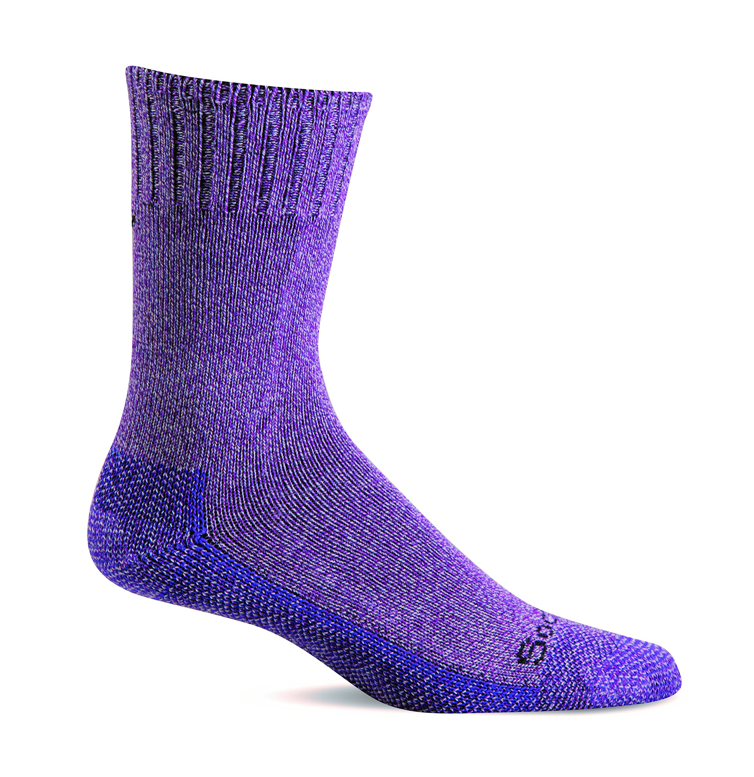Sockwell Women's Relaxed Fit Big Easy Socks (Violet Marl, M/L)