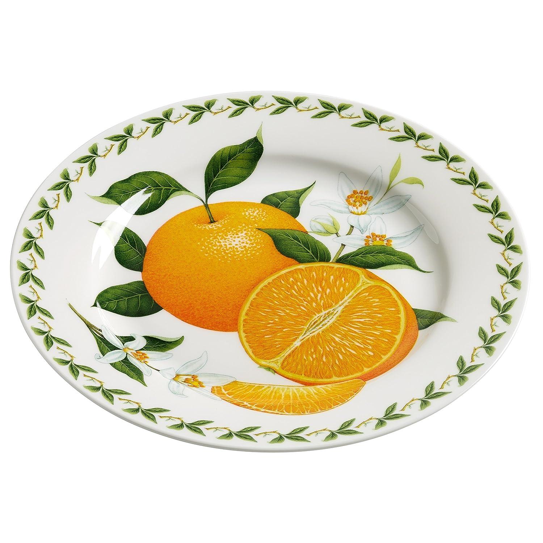 Maxwell & Williams PB8210Orchard Fruits–Piatto Arancione, 20cm, confezione regalo, porcellana, colorato