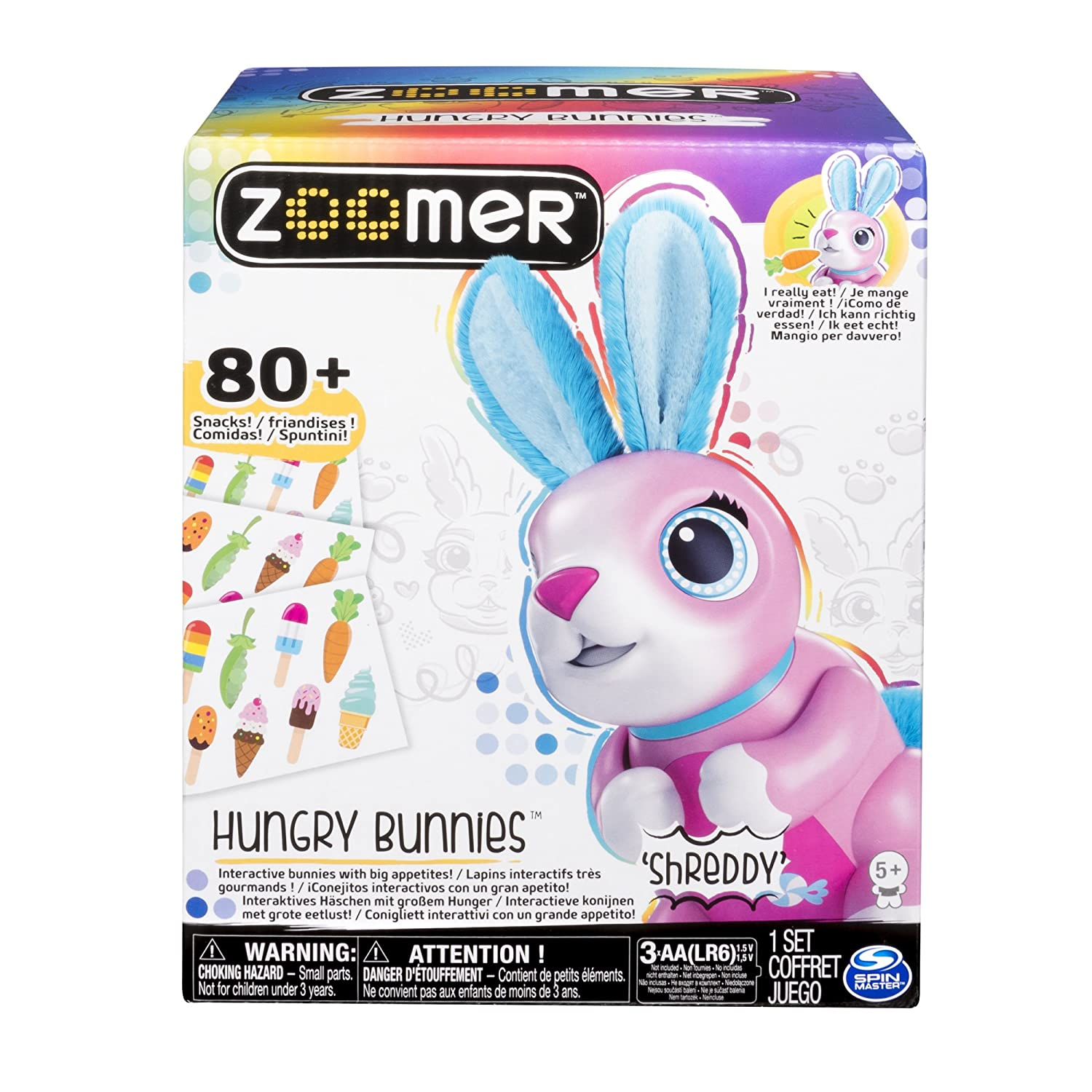 Toys Games Zoomer Hungry Bunnies Interactive Eating Bunny
