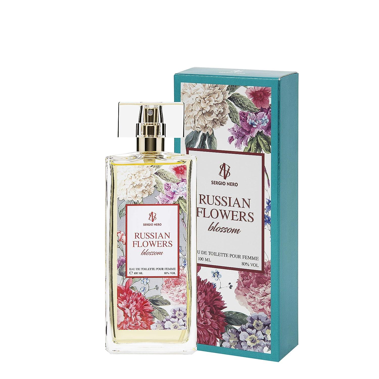 Russian Flowers BLOSSOM Agua de tocador (Eau de toilette) para Mujeres, 100 ml - FRAGANCIA Nueva de flores para Ella: Amazon.es: Belleza