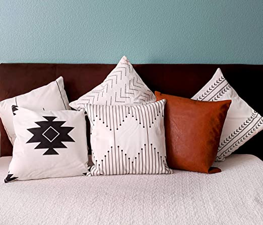 Amazon Com La Boheme Lane Throw Pillow Cover And Cases Set Of 6 Accent Pillow Bedroom Decor Home Decor Decorative Pillows Throw Pillows Farmhouse Decor And Boho Decor Use With 18 X 18
