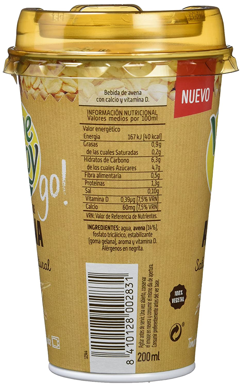 Vivesoy Bebida de Avena - Paquete de 10 x 200 ml - Total: 2000 ml: Amazon.es: Alimentación y bebidas