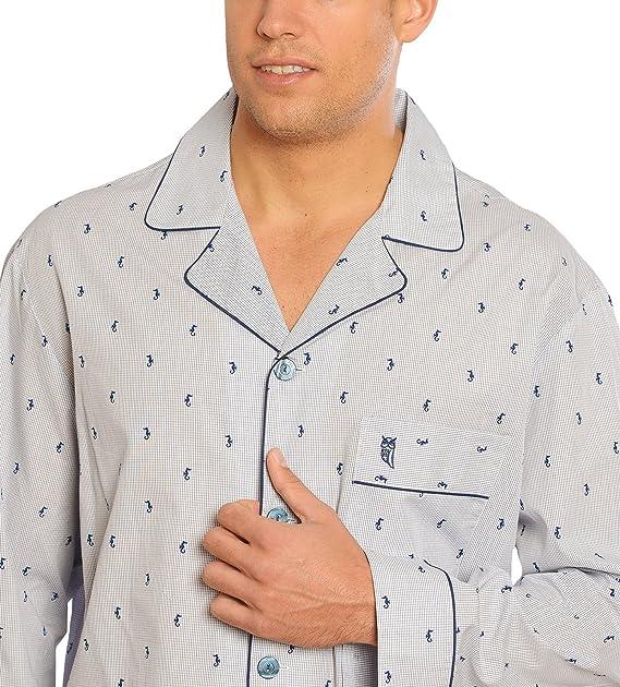 El Búho Nocturno (Especial Tallas Grandes) Pijama de Caballero Largo clásico Estampado/Ropa