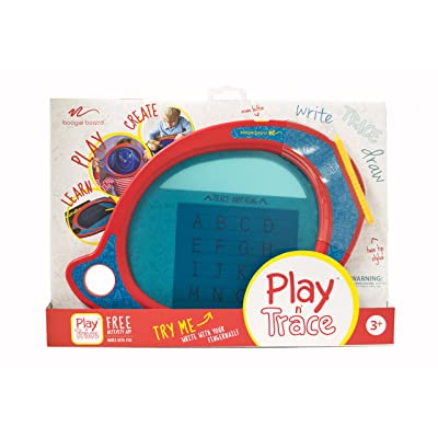 Boogie Board Play and Trace LCD Writing Tablet Clear See-Through Writing Surface for Kids to Write, Trace, and Draw eWriter Ages 3+: Toys & Games
