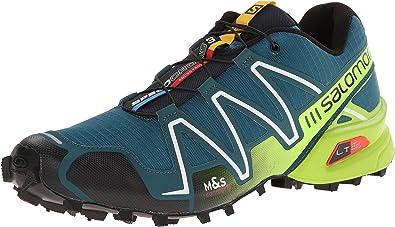 Salomon Speedcross 3, Zapatillas de Trail Running para Hombre, Blau Cobalt Blue Granny Green Black, 40 2/3 EU: Amazon.es: Zapatos y complementos