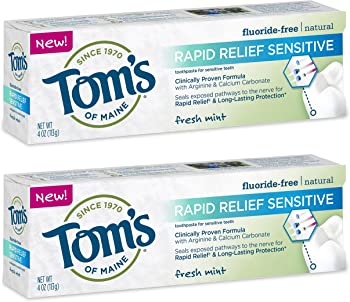 Tom's of Maine Rapid Relief Sensitive Natural Toothpaste