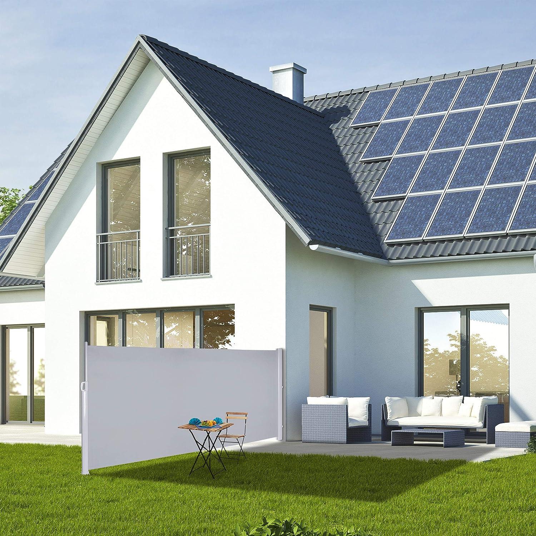 160 x 300 cm Panel de privacidad Verde Protecci/ón Solar Relaxdays Toldo Lateral Enrollable