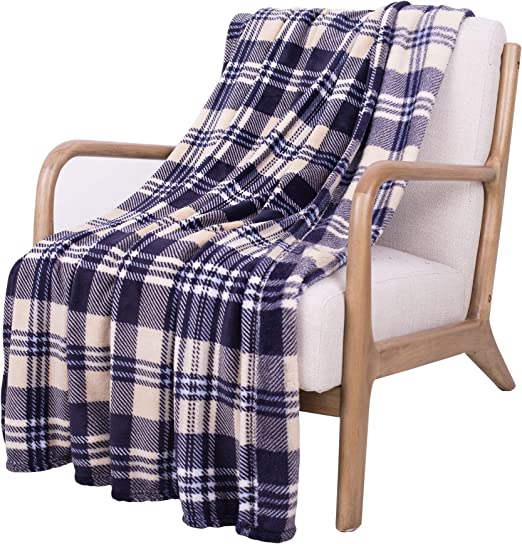 SOCHOW Flannel Plush Throw Blanket 50 /× 60,All Season Green Blanket for Bed Couch,Car