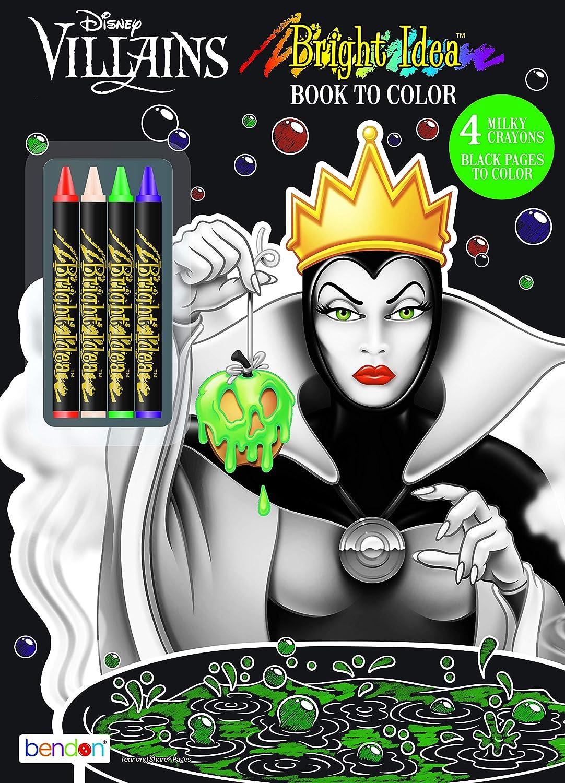 - Amazon.com: Disney Villains Black Paper Coloring & Activity Book