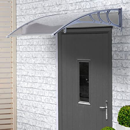 Vonhaus Polycarbonate Door Canopy Single Corrugated Panel Shelter