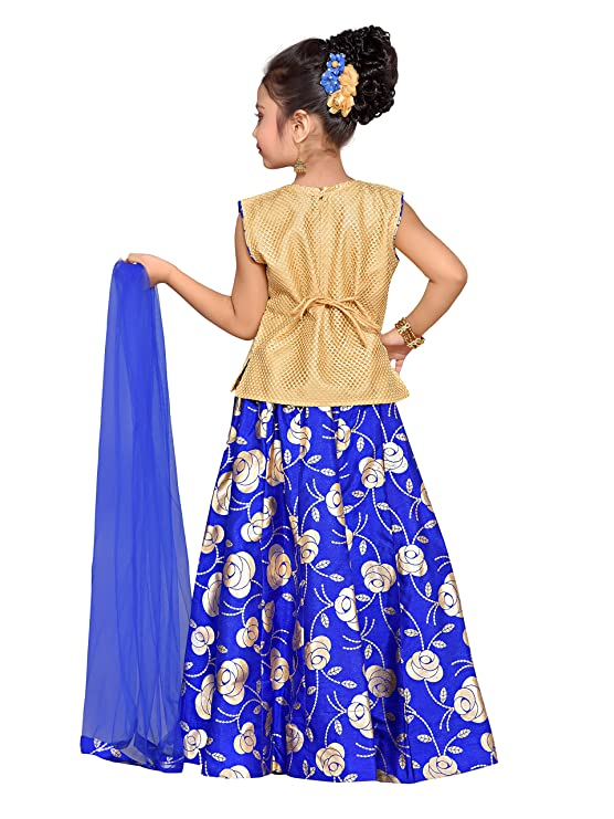 1d8bb401bc ADIVA Girl's Brocade Blend Lehenga Choli: Amazon.in: Clothing & Accessories