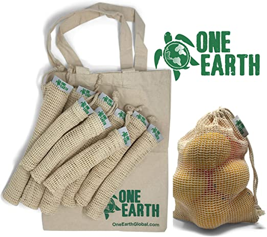 One Earth Global - Bolsas reutilizables de algodón orgánico ...