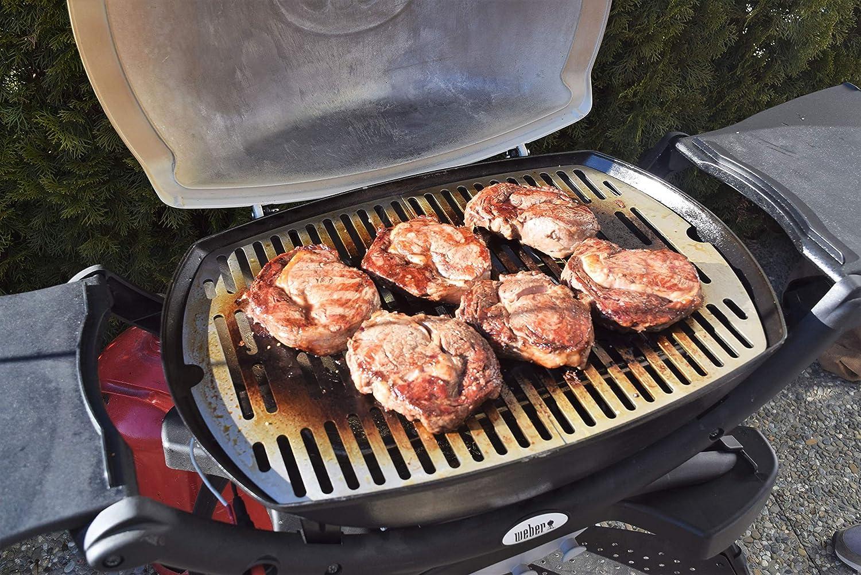 Weber Elektrogrill Steak : Edelstahl grillrost ersatzrost passend für alle grills der weber