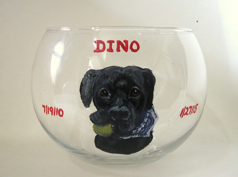 Pet Rememberance Candle Holder Painted Dog Pet Memorial Black Labrador Retriever Glass Jar Dog Art Custom Pet Portrait Loss of Dog