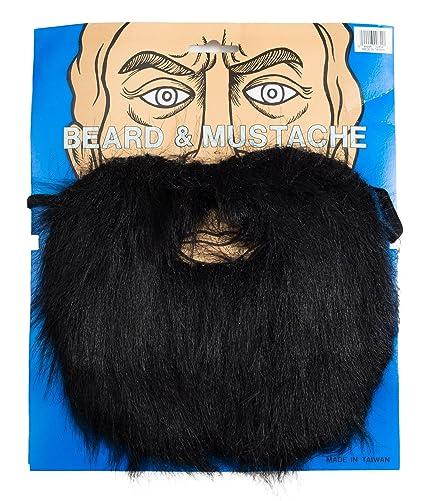 7b52559cf23 Amazon.com  Loftus International Lumberjack Mountain Man Beard   Moustache  Set Black One Size Novelty Item  Toys   Games