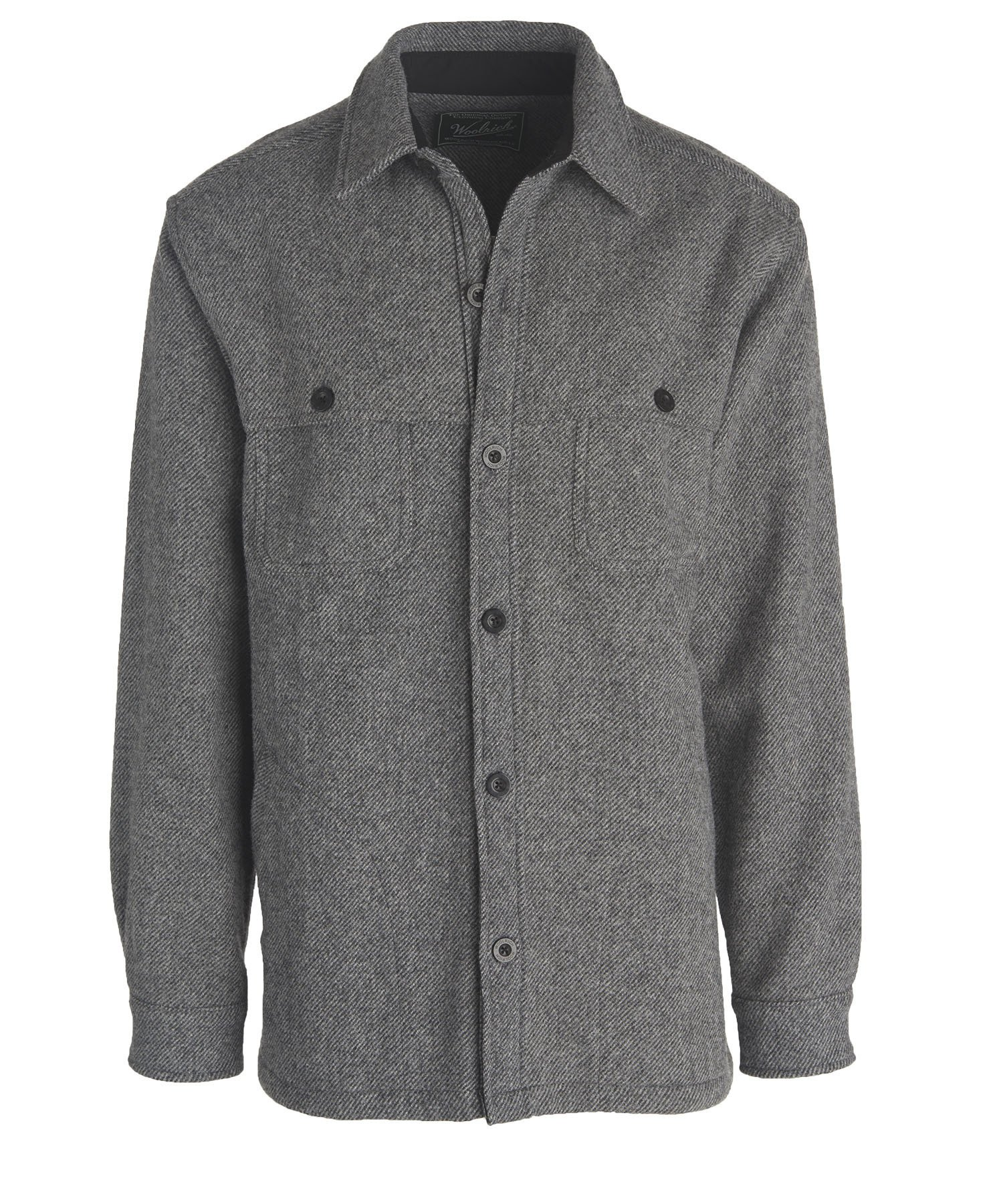 Woolrich Men's Wool Stag Shirt Jacket, New Gray, Large