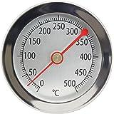 Lantelme 2840 Termometro per forno, forno a legna, forno per pizza / Analogico / 500 °C