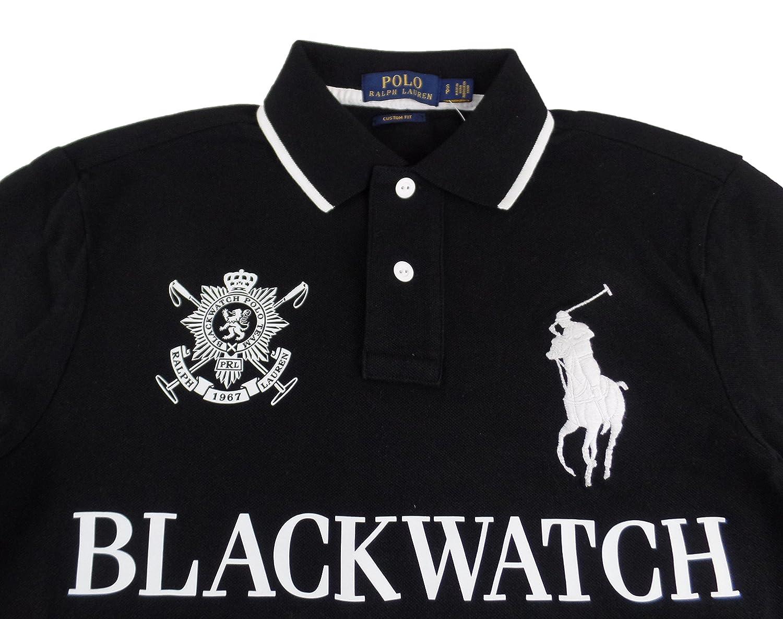 Amazon.com: Polo Ralph Lauren Men\u0027s Blackwatch Big Pony Custom Fit Polo  Shirt: Clothing