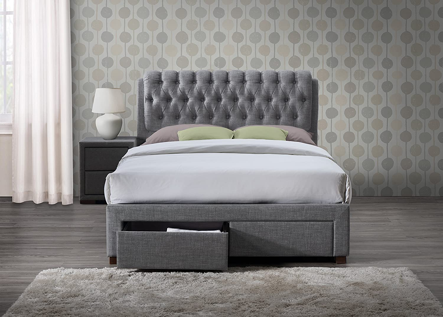 size wood design home ideas brown with drawers lacquered and light oak storage decorating drawer frame bed king