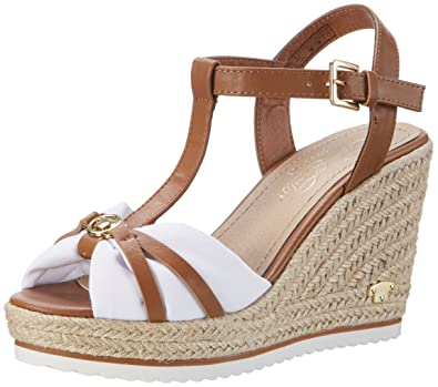 TOM TAILOR Damen 2790203 Riemchensandalen