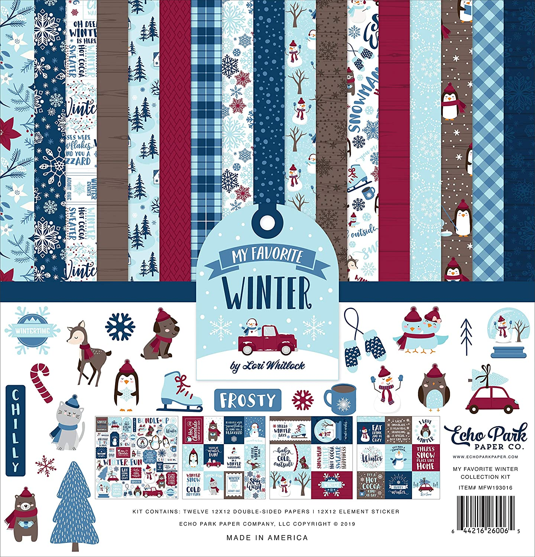 Echo Park Paper Company apa132016/eine perfekte Herbst Collection Kit