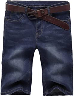 a86ef759d85d Valuker N867 Herren Stretch Jeans Shorts Sommer Kurze Hose Dunkelblau
