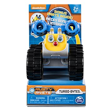 Spin Master Rusty Rivets - Turbo-Bytes Racing Car with Bonus Parts: Amazon.es: Juguetes y juegos