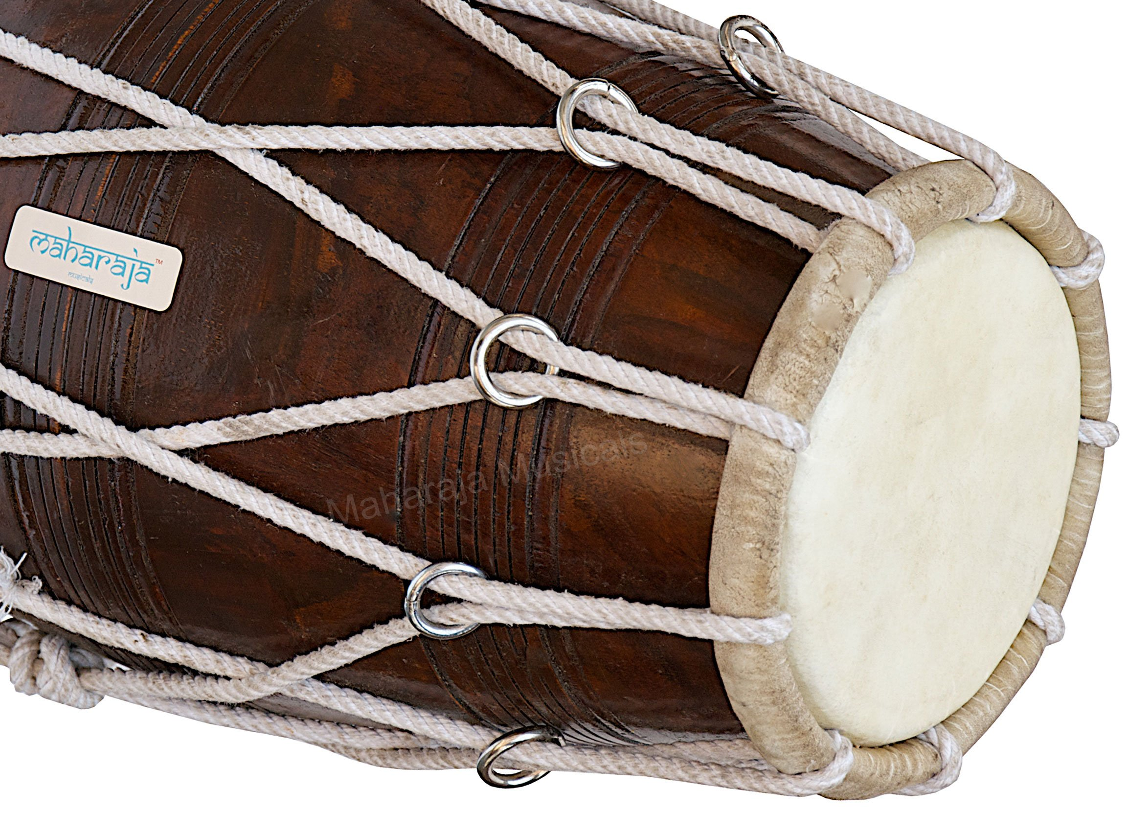 Special Dholak Drum by Maharaja Musicals, Professional Quality, Sheesham Wood, Padded Bag, Spanner, Dholki Musicals Instrument (PDI-BBC) by Maharaja Musicals (Image #5)