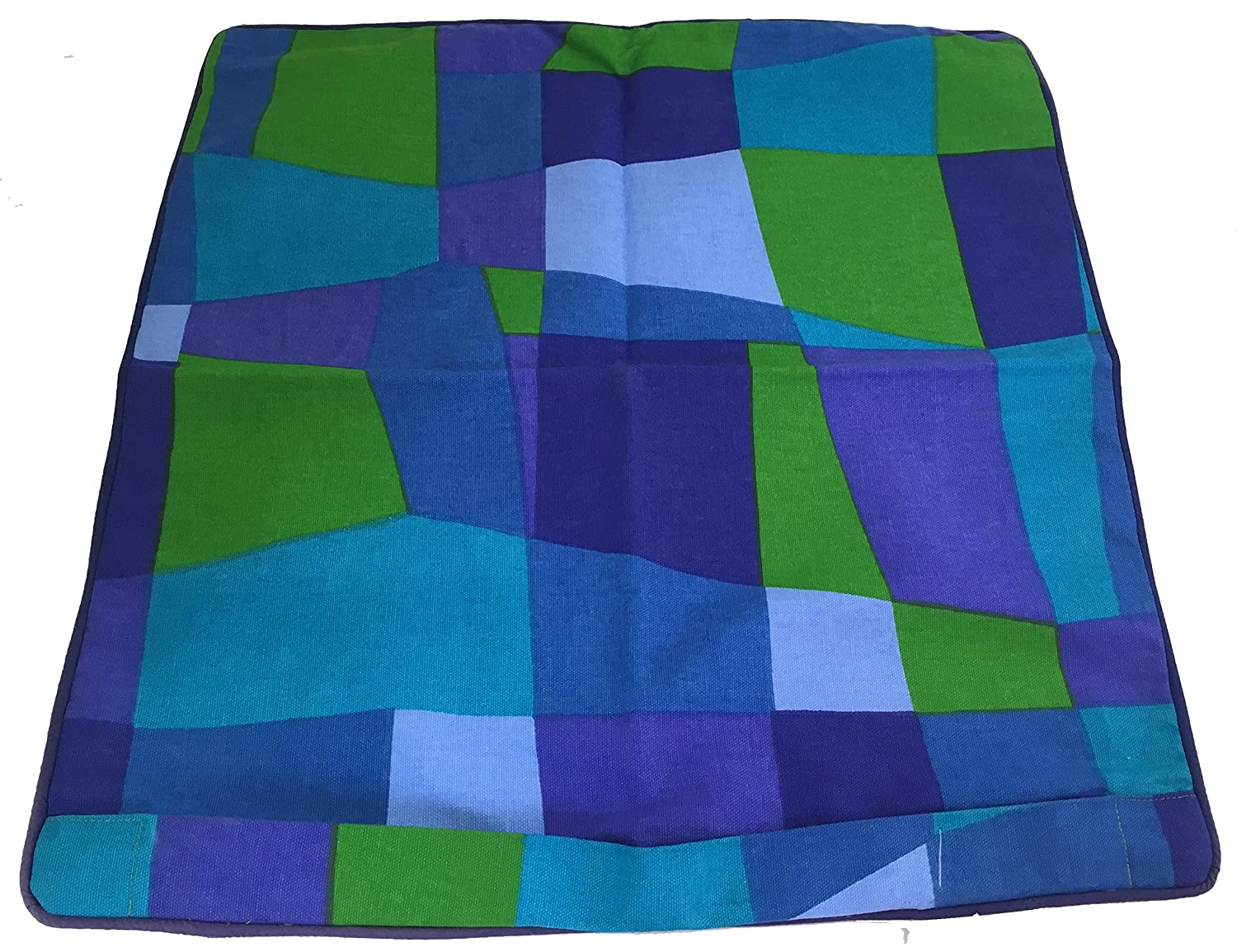 Sia Home Fashions Decor Decorative Pillow Cover 20 by 20-Inch Channel Distribution 651064 Green Blue Mosaic