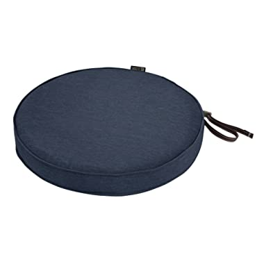 Classic Accessories Montlake Round Cushion Foam & Slip Cover, Heather Indigo, 15  Dia x 2  Thick