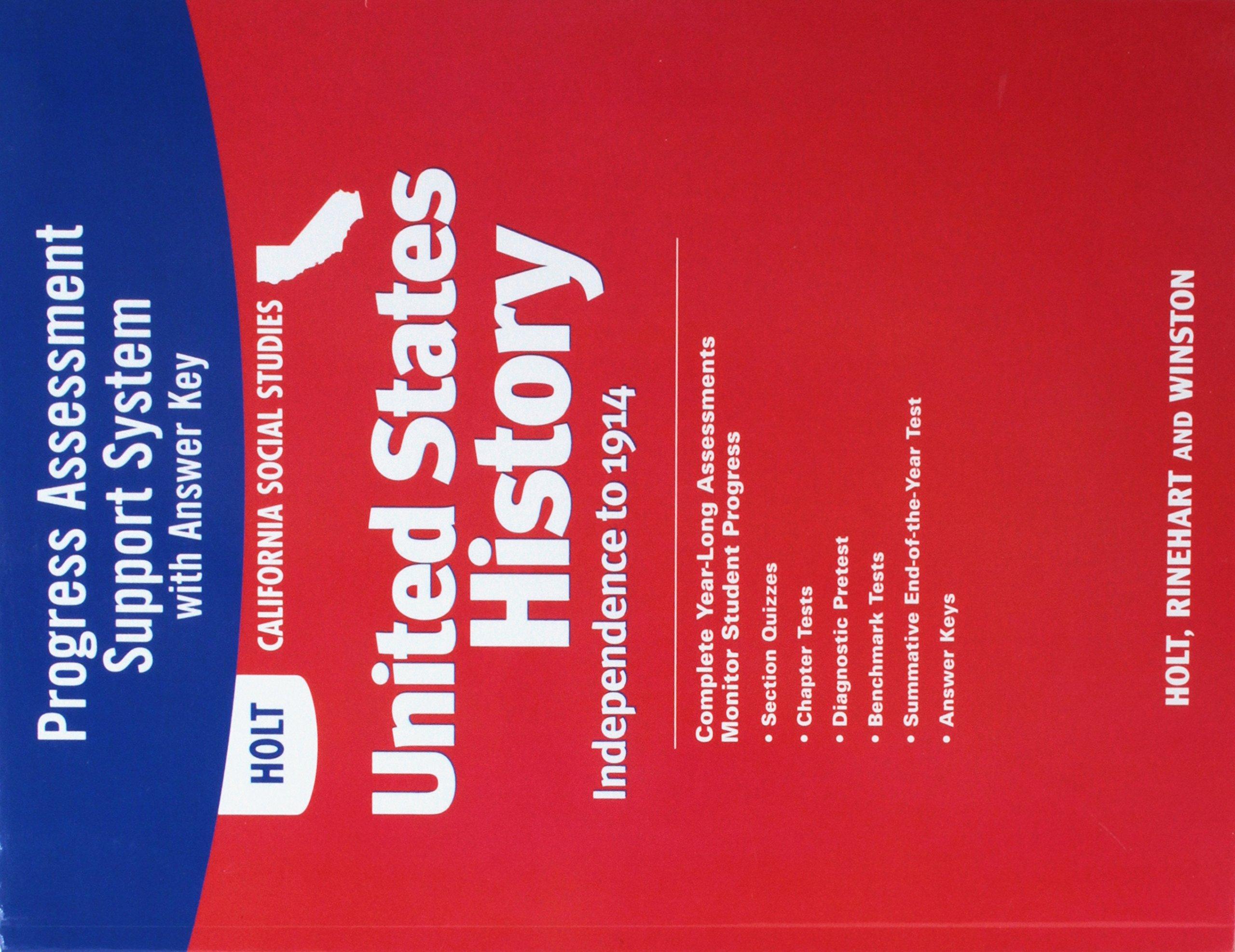 Holt United States History California: Program Assessment