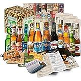 Cervezas del mundo (12 botellas) especialidades internacionales de cerveza para regalar - Las mejores cervezas del mundo con caja de regalo (cerveza + instrucciones de degustación + folleto de cerveza + regalos cervecería + caja de regalo)
